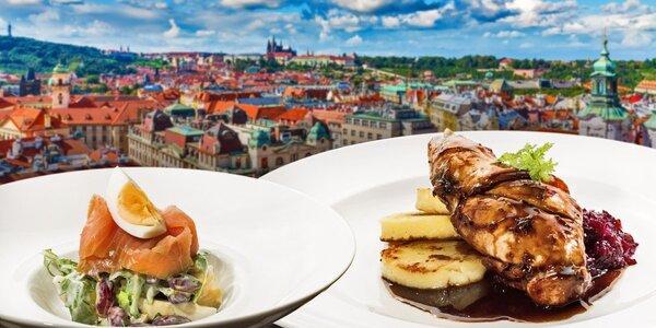 Oběd v Žižkovské věži a vstup na vyhlídku
