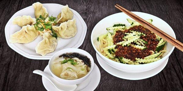 Autentické čínské menu v restauraci GUI LIN