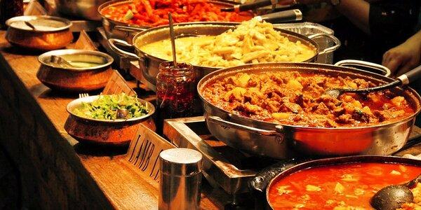 Velkolepá indická hostina s otevřeným voucherem