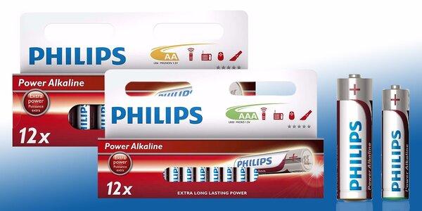 24 alkalických baterií Philips