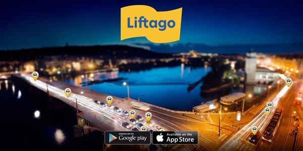 Promo kód ve výši 119 Kč na jízdu s Liftago taxi