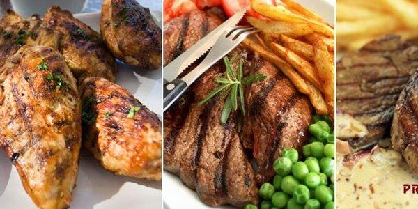 189 Kč za jedinečné maso tří barev pro DVA v restauraci Prometheus!