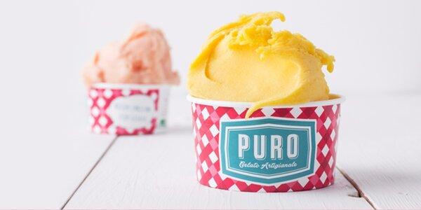 Kopeček mňamózní zmrzliny z Puro Gelato