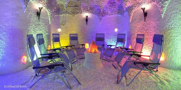 Relaxace v solné jeskyni Orchidea
