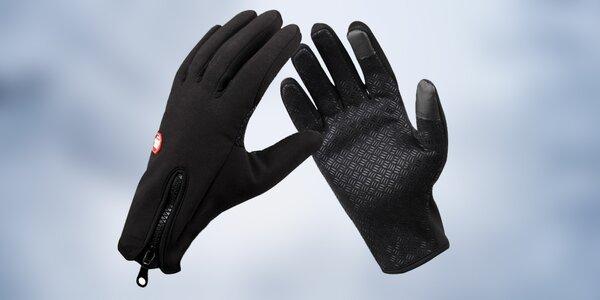 Větru a voděodolné termo rukavice