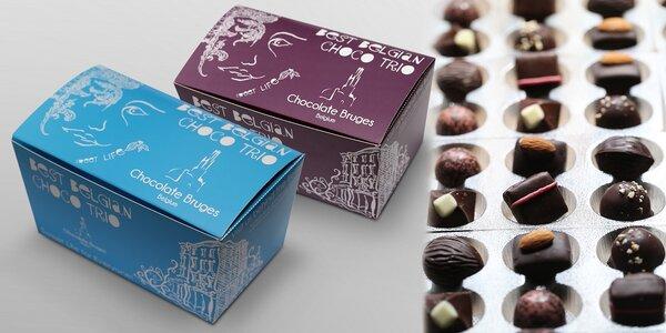 Belgické čokolády – trio nejžádanějších druhů v originální krabičce