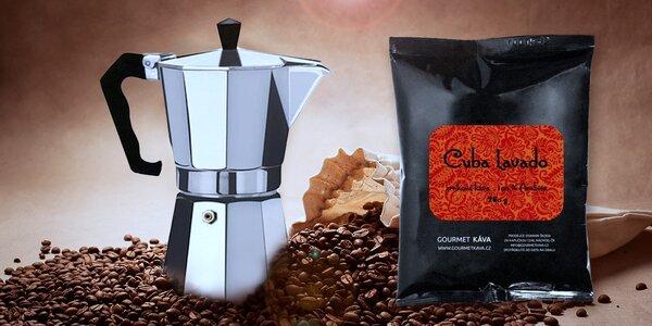 Voňavé kávové balíčky a konvičky