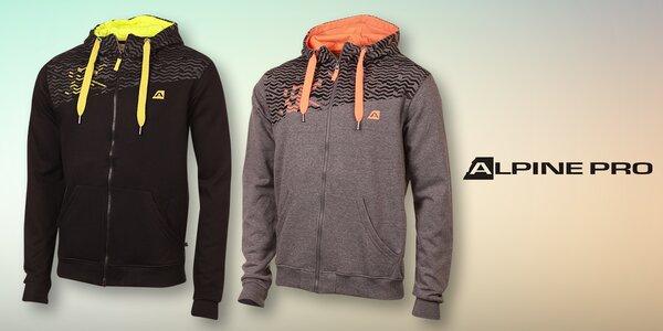 Pánská mikina Alpine Pro s kapucí a zipem