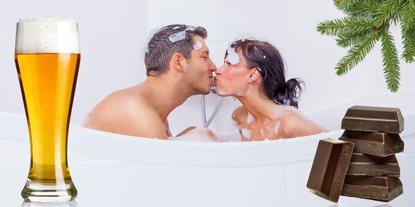 Romantická koupel pro dva včetně nápoje