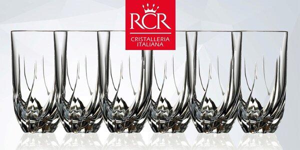 Sada 6 luxusních 475ml sklenic RCR Italy