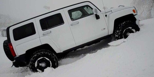 Zimní jízda v Hummeru H3 – adrenalin jak má být