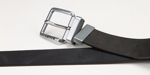 Pánský oboustranný pásek - AB220716 Černo-hnědý