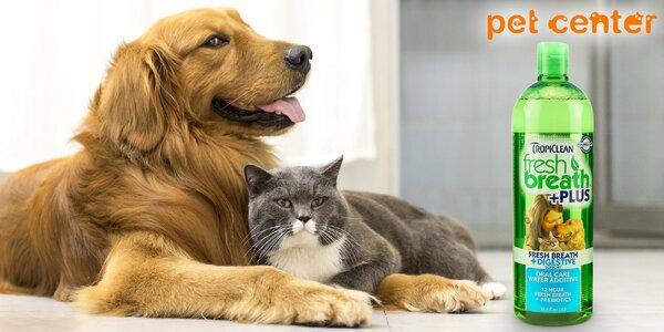 Přísada do vody pro svěží dech psů a koček