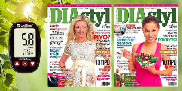 Roční předplatné časopisu DIAstyl s glukometrem