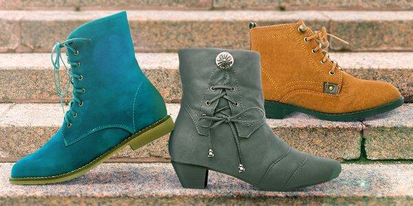 Dámské kotníkové boty na podzim nebo do zimy