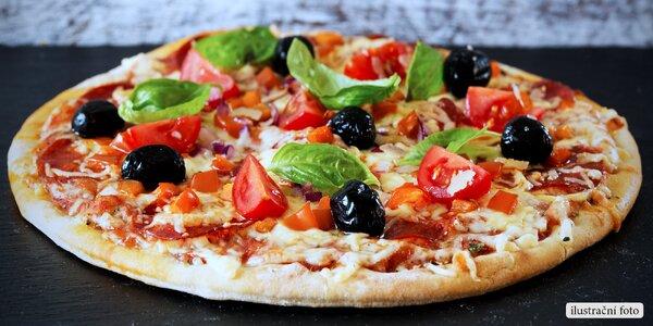 Křupavá pizza o průměru 40 cm dle výběru
