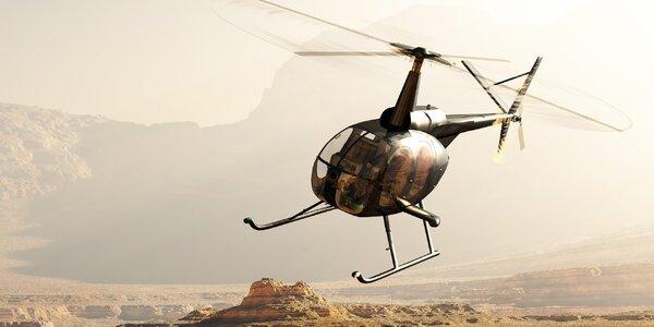 Hodina v oblacích: Let na simulátoru vrtulníku