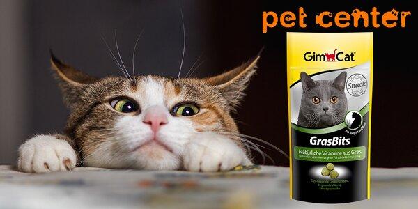 Kočičí mňamka: 2 balení pamlsků GimCat Gras