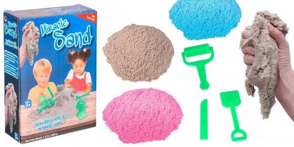 Kinetický písek – pískoviště, které si můžete vzít všude s sebou