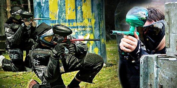 Adrenalinový paintball – venkovní hřiště i atomový kryt