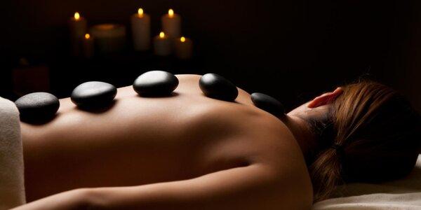 Masáž celého těla horkými kameny - 60 minut