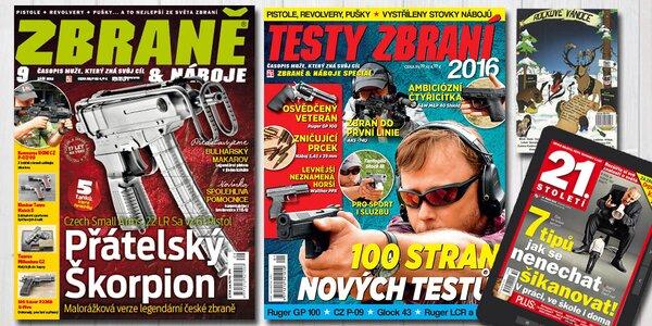 Předplatné časopisu Zbraně a náboje + bonusy