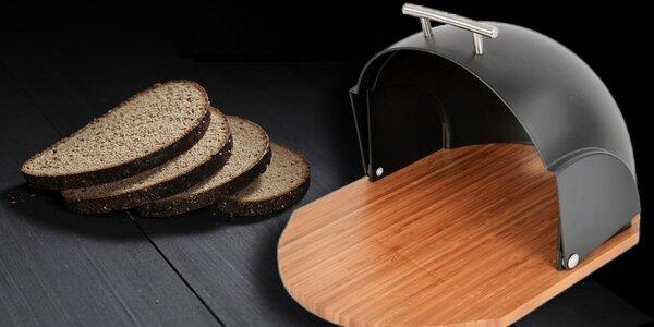 Praktický bambusový chlebník ve třech barvách