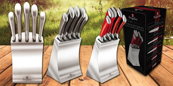 Laserem broušené nože v designovém bloku