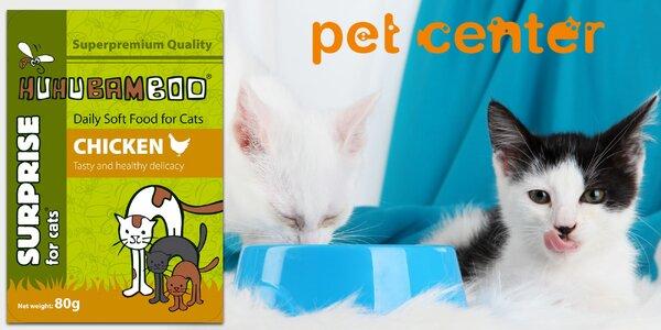Kuřecí kapsičky Huhubamboo pro kočky