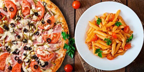 Italská večeře: pizza nebo těstoviny pro dva