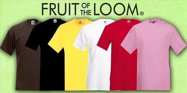 2 pánská trička Fruit of the Loom VALUEWEIGHT