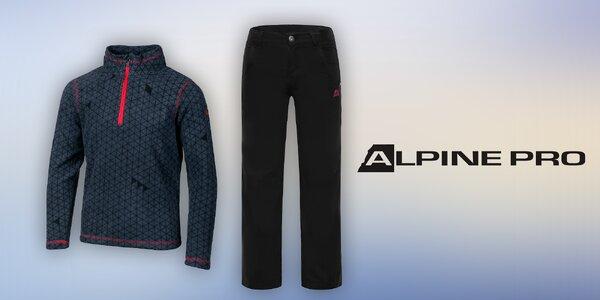 Zateplené dětské kalhoty a mikina Alpine Pro