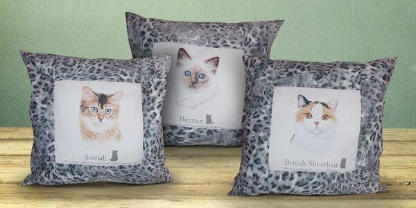 Bavlněné polštářky Beautiful Cats