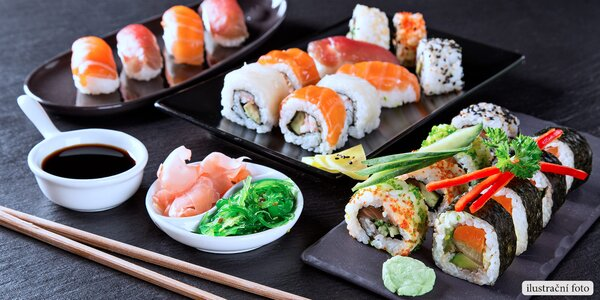 Voucher na konzumaci lahůdek v sushi restauraci