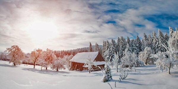 Zimní pohodička a lyžování u Božího Daru