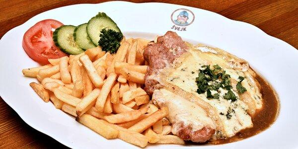 Bašta u Švejka: Kuřecí steak s variací sýrů