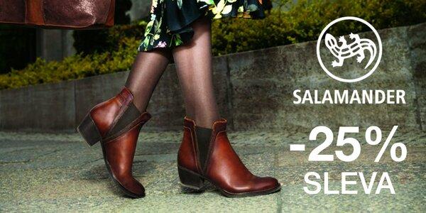 Sleva 25 % na dámskou i pánskou obuv Salamander