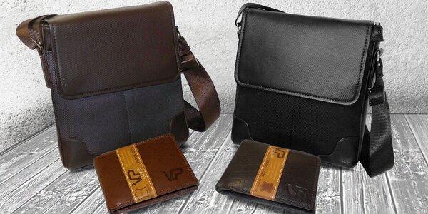 Pánský set ALEX: Taška a kožená peněženka
