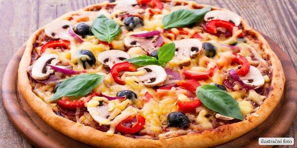 Pizza dle výběru ve smíchovské hospůdce