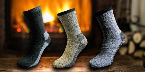 3 páry pánských termo ponožek