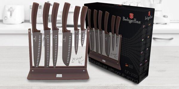 Sady 7 nožů s diamantovým povrchem v bloku