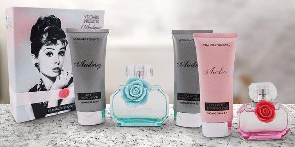 Elegantní dárkové kazety Audrey: parfém a vybraná kosmetika