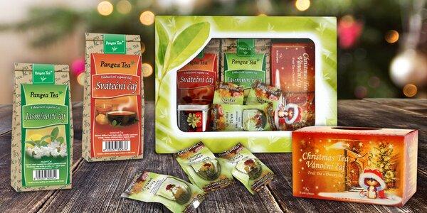 Vánoční čajová krabička