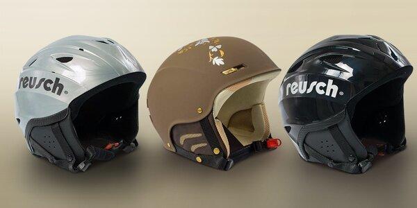 Lyžařské helmy Reusch a Hamax