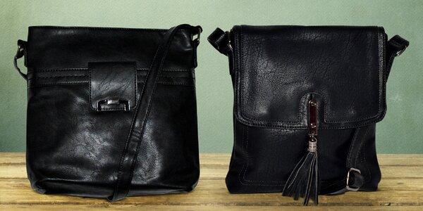 Dámské černé crossbody kabelky