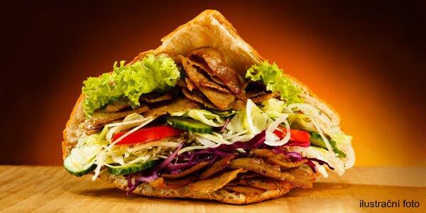 Originální turecký kebab v rolce či pitě + nápoj