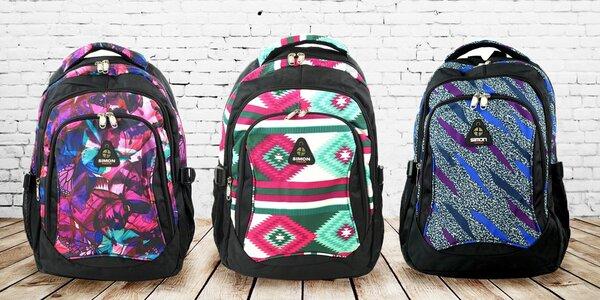 Barevné školní batohy Simon