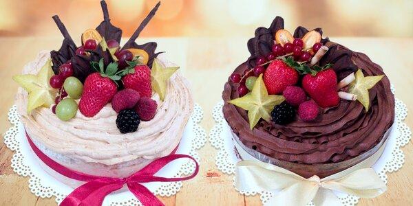 Pařížský nebo karamelový dort k vyzvednutí