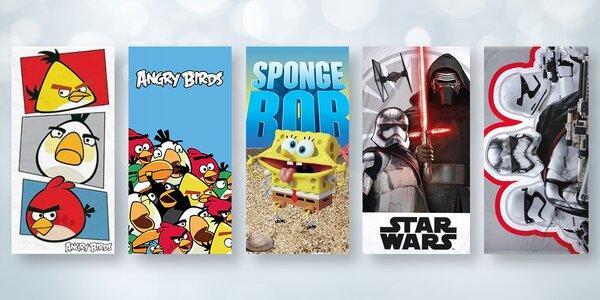 Dětské osušky s oblíbenými filmovými motivy