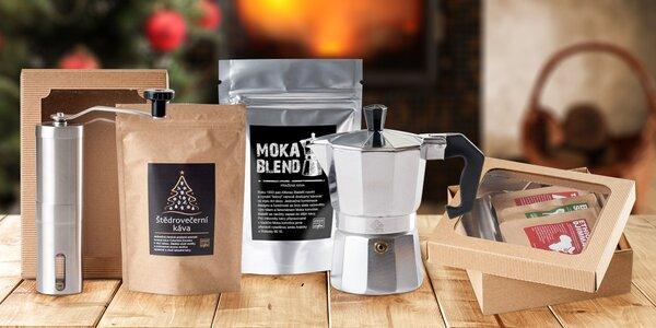 Vánoční balíčky zrnkových káv pražených v Česku